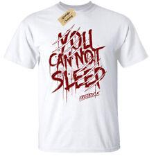 You Can Not Sleep t-shirt Mens freddy halloween t shirt blood gothic rock white