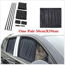 Adjustable Car Auto Window Sun Shade Visor Windshield Sun Curtains 50cmX39cm 2pc