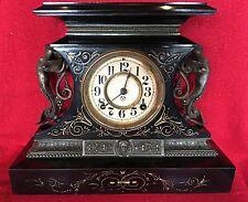RARE Ansonia Rosalind Antique/Figural/Mantel 1880's Clock 8 Day Running