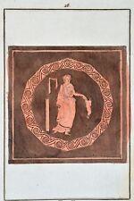 Griechische Mythologie Vasen Greek Mythology Vases ca 1850 Original Radierung 28