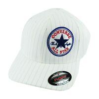 Converse All Star Men's Flex Fit  Black White Core Cap Hat Fitted Chuck Taylor