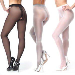 missO 40D Shiny Crotchless Pantyhose | Silky Smooth Sheer to Waist | Plus Sizes