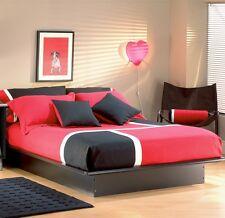 Black Full Size Platform Bed Frame Home Bedroom Furniture