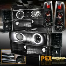 CHEVY C/K1500 Silverado Halo Projector LED Headlight + Limited Black Tail Light