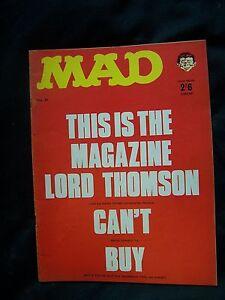 MAD MAGAZINE, # 65, HUMOUR, 1967, LORD THOMSON, UK VERSION, VINTAGE