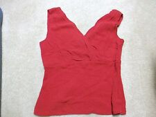 ANNE KLEIN RED SILK TOP SIZE 6 $125 NWT