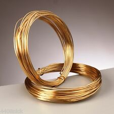 1.2 mm (16 gauge) REAL GOLD PLATED CRAFT / JEWELLERY WIRE - 3 metres