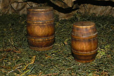 Nativity Scene Pesebre Creche Accessory for Village Wooden Barrel Set of 2