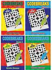 CODE BREAKERS CROSSWORD POCKET PUZZLE BOOKS A5 150 PAGES NEW BRAIN GAMES 3150