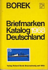 Borek Briefmarken Katalog Deutschland 1968, used.