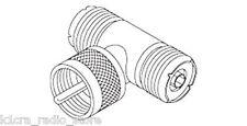 "UHF ""T"" Coaxial RF Adapter / Splitter - Female / Male / Female Pack of 2"