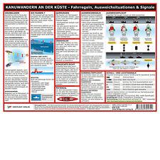 Kanuwandern an der Küste - Info-Tafel, DIN A4, laminiert # Kajak Kanu Dreipunkt