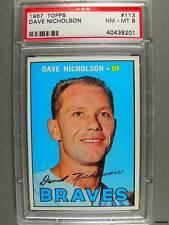 1967 Topps #113 DAVE NICHOLSON PSA NM-MT 8 Braves