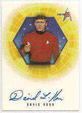 Star Trek 35th Anniversary TOS Autograph Card A19 David Ross Lt. Galloway