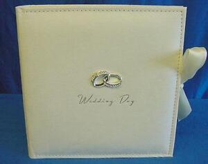 "JULIANA AMORE SUEDE FINISH WEDDING DAY PHOTOGRAPH ALBUM 100 7"" X 5"" PHOTO WG280"