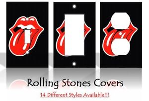 Rolling Stones Lips Music Jagger Richards Light Switch Covers Home Decor Outlet