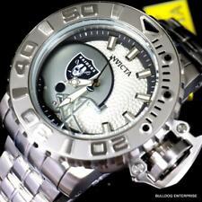 Invicta Sea Hunter Gen II NFL Oakland Raiders 70mm Steel Automatic Watch New
