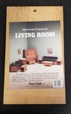 Dura Craft Livingroom Miniature Dollhouse Wood Furniture kit