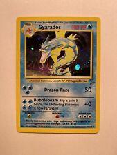 Gyarados (Garados)| Near Mint | Englisch |Base Set 2 | Holo Pokemon no 1.Edition