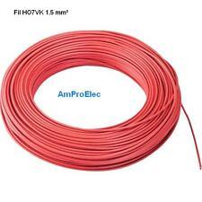 Fil électrique souple HO7-VK 1,5 mm²   5 mètres 9 Couleurs différentes