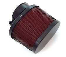 Black & Red Oval Pod Filter - 45mm - Honda CB750 - 1977-1978