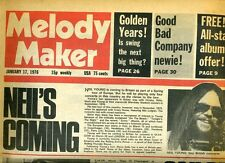 NEIL YOUNG HOWLIN WOLF BLUES LEGEND DEAD AT 65  MELODY MAKER  1976