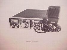 1977 COMMANDO CB RADIO SERVICE SHOP MANUAL MODELS 2320 & 2325