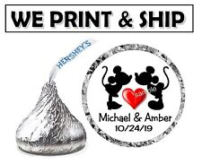 216 DISNEY WEDDING FAVORS MICKEY AND MINNIE HERSHEY KISSES KISS LABELS