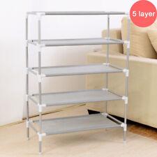 5-Tier Metal Shoes Rack Stand Storage Organizer Shelf Holder Stackable Closet