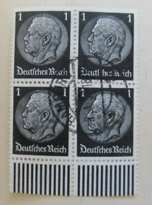 A8P53F51 Deutsches Reich Allemagne Germany 1933-36 1pf fine block of four used