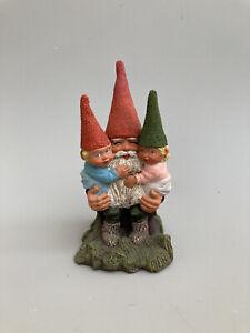 """Rien Poortvliet Gnome Figurine with Children  LR 1988 USA  6"""""""