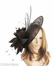 Chocolate Brown Fascinator Hat For Weddings/Ascot/Proms With Headband A1