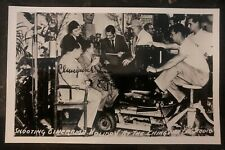 Mint China RPPC Postcard Ching Wah Lee Shooting Cinerama Holiday Autographed