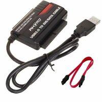 "USB 2.0 Hard Drive Reader 2.5"" 3.5"" 5.25"" IDE SATA SATA2 Convertor Adapter"