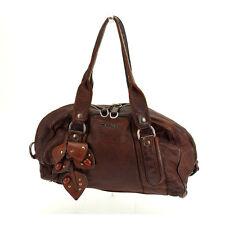 Auth Miu Miu Boston bag stone & studded ladies used J9948