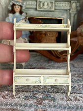 Vintage Miniature Dollhouse IGMA Mary O'Brien 1994 Hand Painted Display Shelf