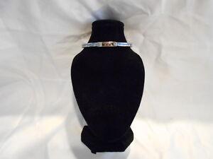 Michael Kors Blue Pave Hinge Bangle Bracelet
