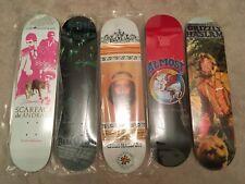 *Lot of 5* Collector World Industries, Almost, Darkstar skateboard decks. Retro