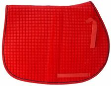 Essential Velvet All-Purpose Show Pad: Quilted  red body/black piping