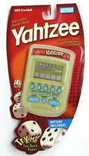 Yahtzee Electronic Hand-Held Gold Blue Buttons Milton Bradley Hasbro Very Rare