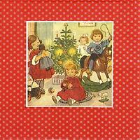 4x Single Lunch Party Paper Napkins for Decoupage Decopatch Fabulous Christmas