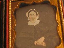 Woman Wearing a Bonnet Sixth Plate Daguerreotype Photo Dag cdii