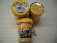 Berkley Power Bait Trout Bait Glitter Yellow 3 x 50g-Glas 100g/6,66€