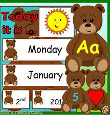 Teddy Bear Weather Chart Calendar New Term EYFS KS1 CHILDMINDER Resources on CD