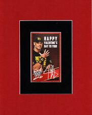 WWE - JOHN CENA Valentine's Day PRINT PROFESSIONALLY MATTED
