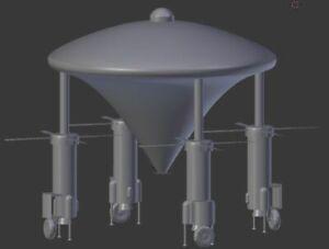 3D Printed Ezekiels Spacecraft 1:72