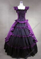 Victorian Gothic Lolita Dress Princess Party Gown Theatre Steampunk Costume 085