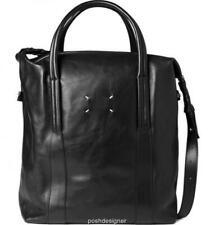 MAISON MARTIN MARGIELA Black leather Holdall Shoulder bag Tote New