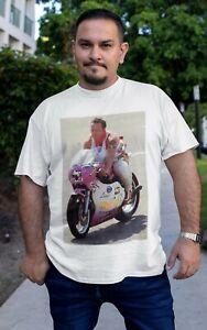 Tee-shirt Coluche motard moto sport  2021 Top qualité