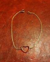 Pulsera Corazón Chapado de Oro (545)